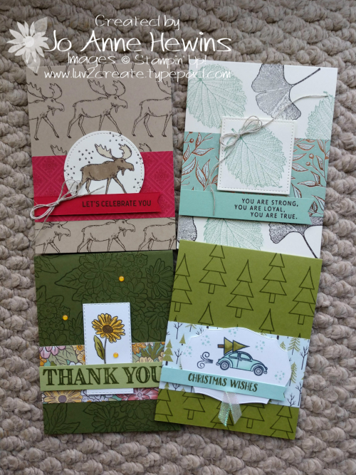 Four Cards with One Layout by Jo Anne Hewins