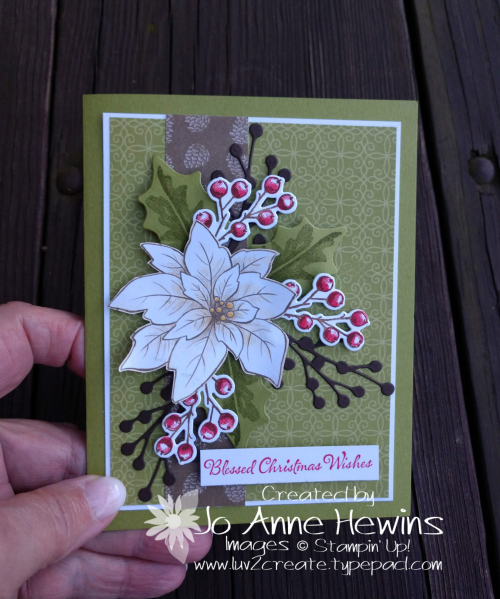 Poinsettia Petals Card by Jo Anne Hewins