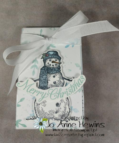 OSAT Nov Snow Wonder Ghirardelli holder by Jo Anne Hewins