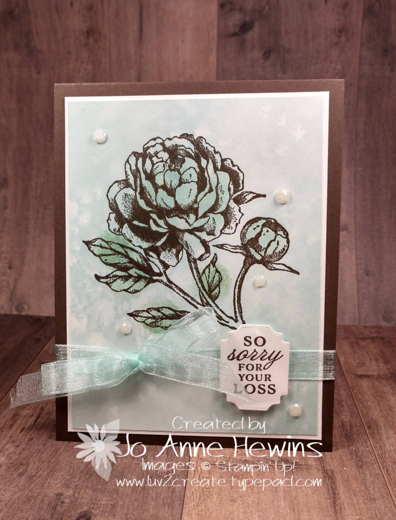 Prized Peony Sympathy Card by Jo Anne Hewins