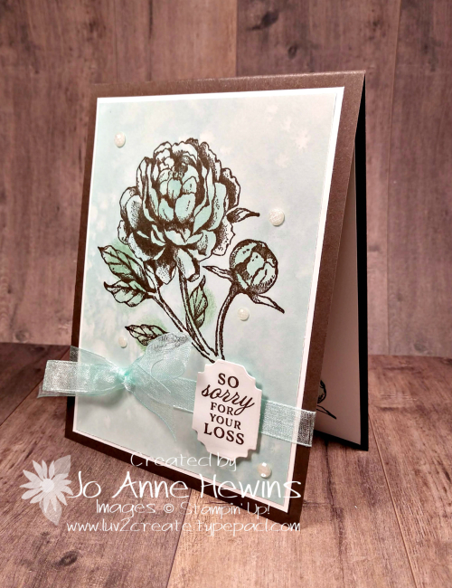 Prized Peony Sympathy Project by Jo Anne Hewins