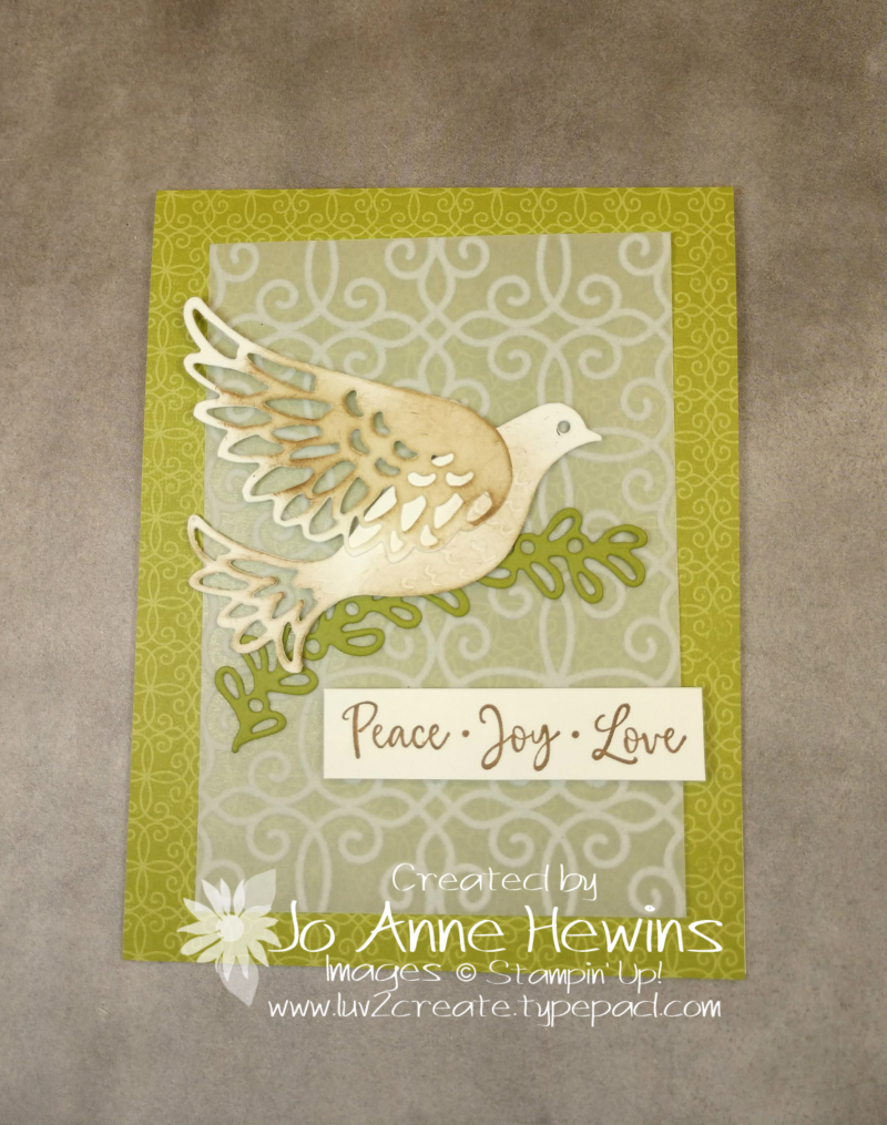 Dove of Hope with Poinsettia Place by Jo Anne Hewins