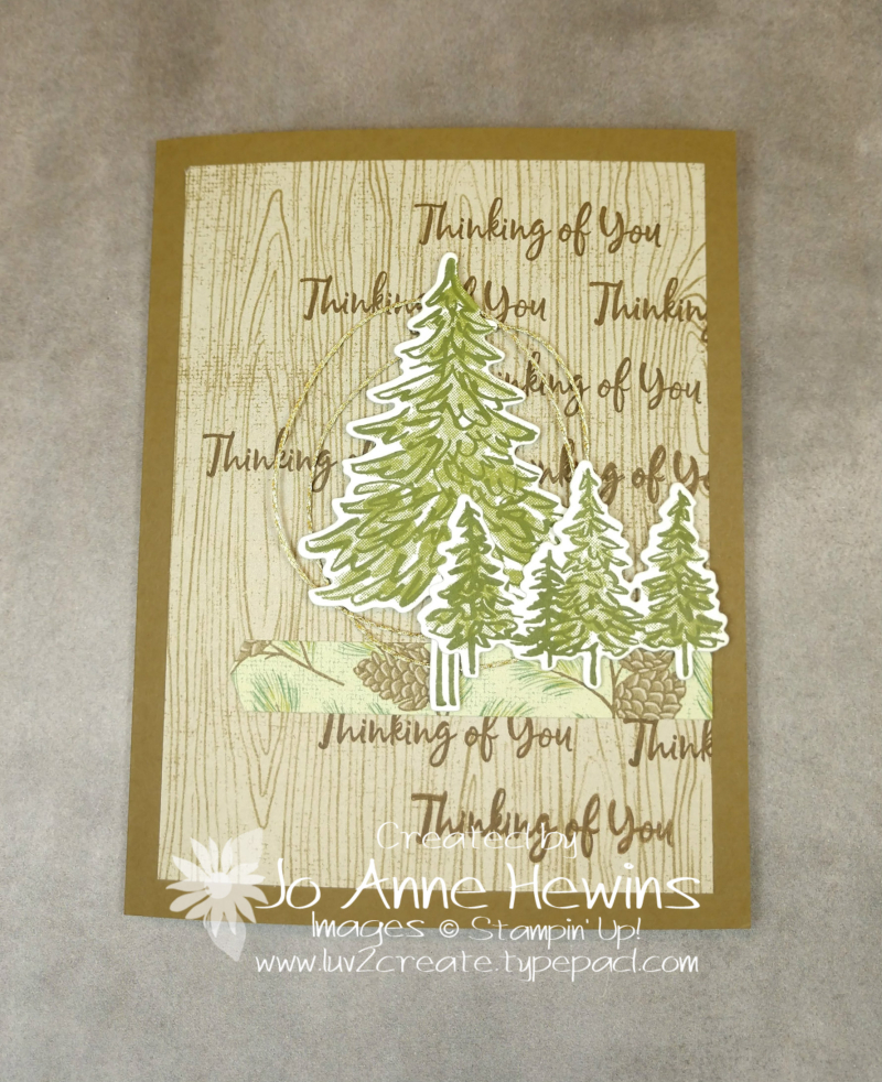 In the Pines with Poinsettia Place by Jo Anne Hewins