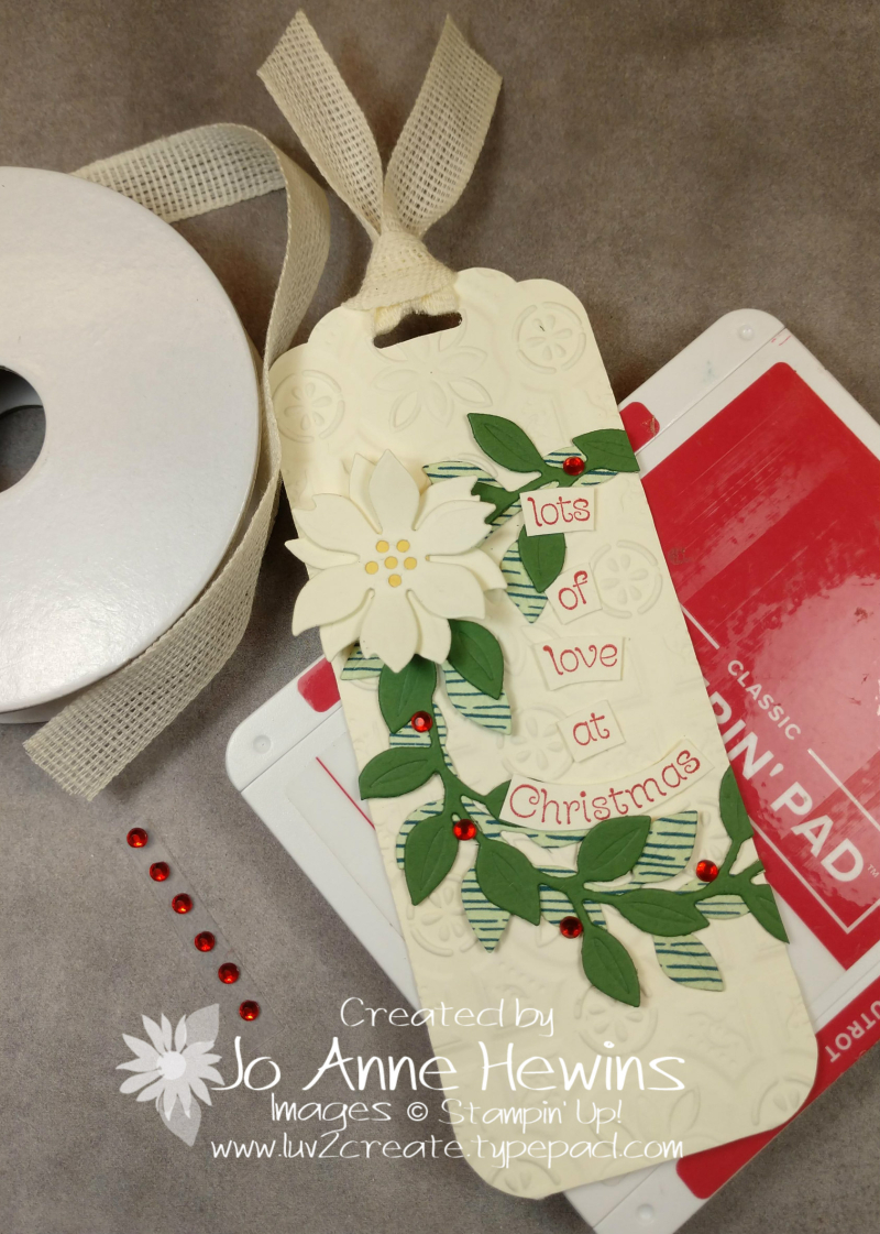 Wreath Builder Christmas Tag Project by Jo Anne Hewins