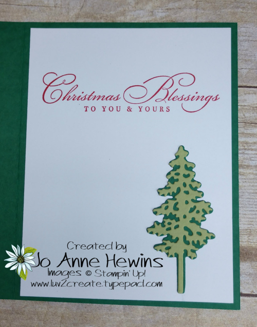 In the Pines with In Good Taste Inside of Card by Jo Anne Hewins
