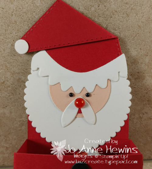 Little Treat Box Santa Close Up by Jo Anne Hewins