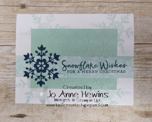 Snowflake Wishes bundle and Winter Snow EF by Jo Anne Hewins