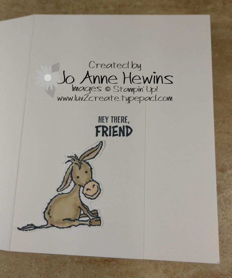 CCMC #643 Darling Donkeys Inside by Jo Anne Hewins