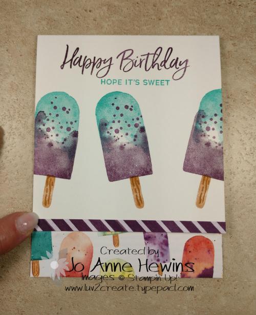 Ice Cream Corner Suite Card by Jo Anne Hewins