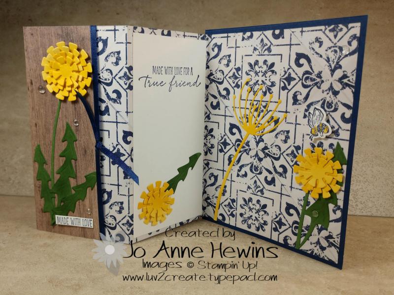Garden Wishes Bundle Fun Fold Open by Jo Anne Hewins