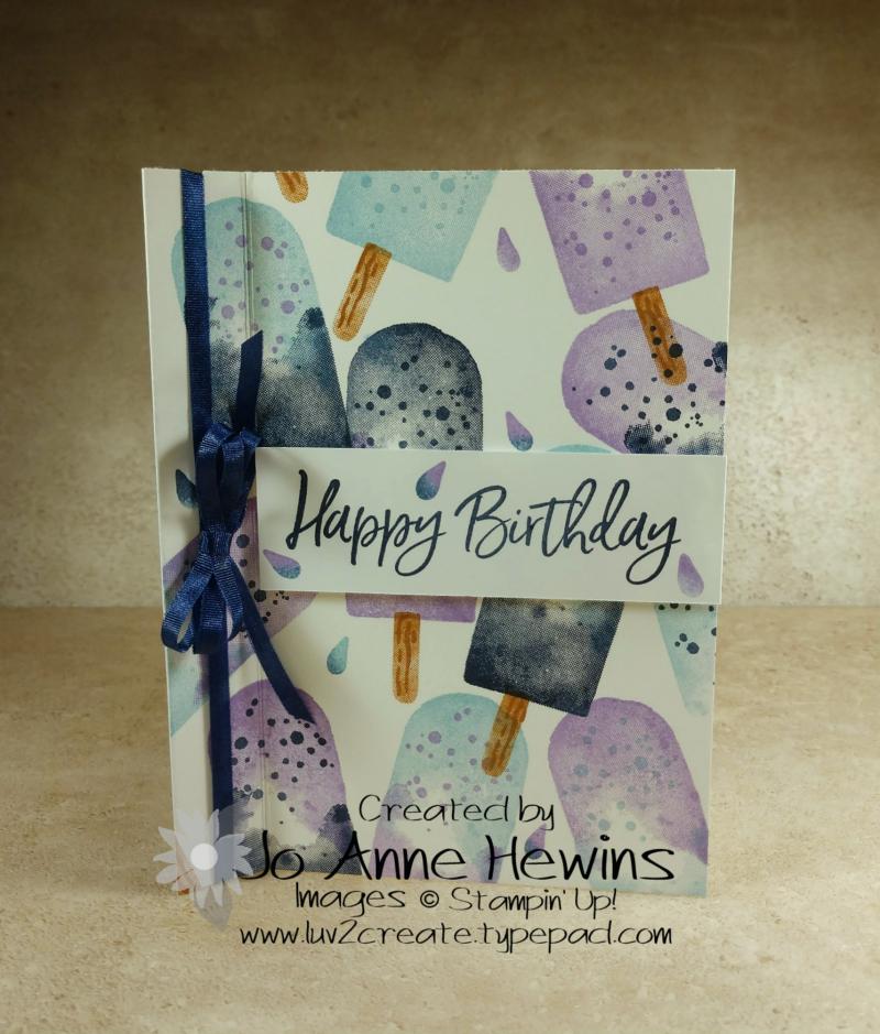 CCMC#644 Ice Cream Corner Card by Jo Anne Hewins