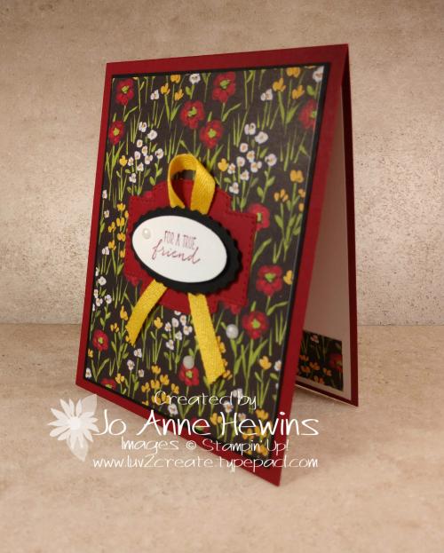 Flower & Field Simple Card Made by Jo Anne Hewins