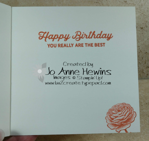 Flowering Blooms Birthday Inside by Jo Anne Hewins