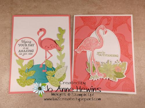 Friendly Flamingo Duo by Jo Anne Hewins