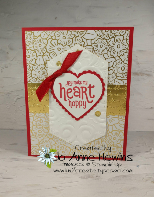 Valentine Heart Punch Pack Card by Jo Anne Hewins