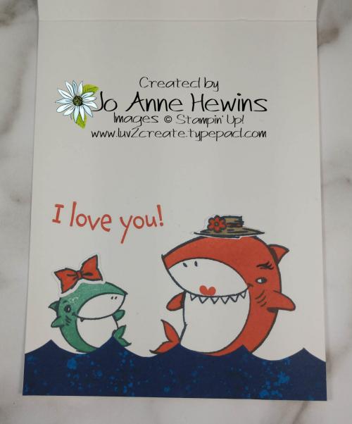 CCMC #651 Shark Frenzy Inside by Jo Anne Hewins