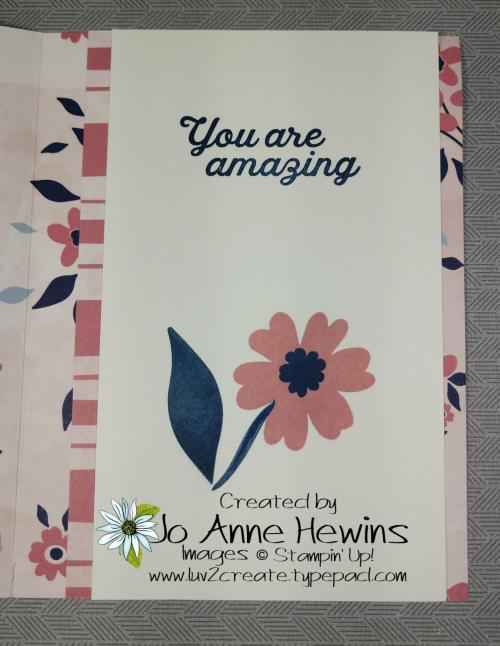 Paper Blooms DSP Fun Fold Inside by Jo Anne Hewins