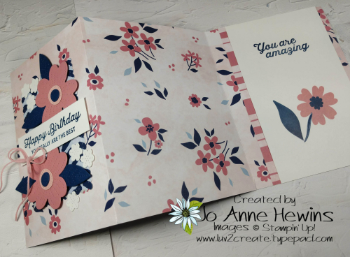 Paper Blooms DSP Fun Fold Open by Jo Anne Hewins