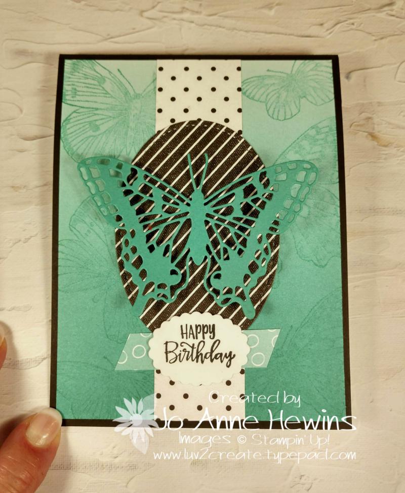 Butterfly Brillance Pop Up Card by Jo Anne Hewins