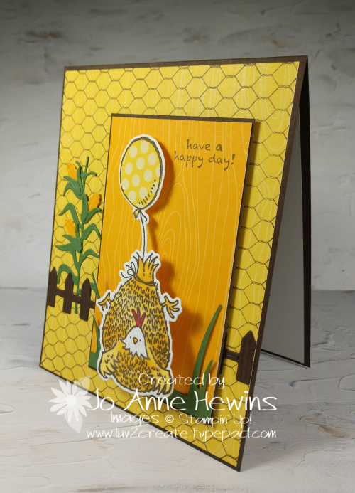 NC Blog Hop Hey Birthday Chick Card by Jo Anne Hewins