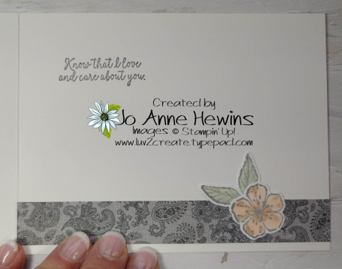 CCMC#653 Forever Blossoms Inside by Jo Anne Hewins