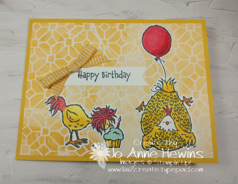 W Card Fold Hey Chicken by Jo Anne Hewins