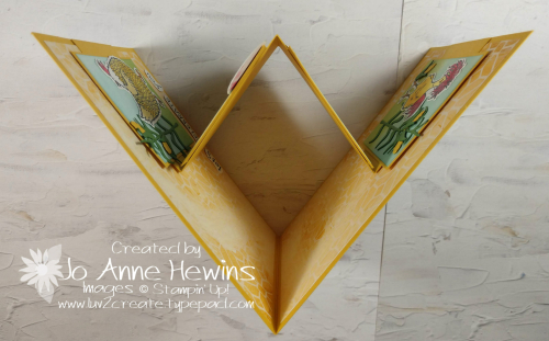 W Card Fold Hey Chick Top View by Jo Anne Hewins