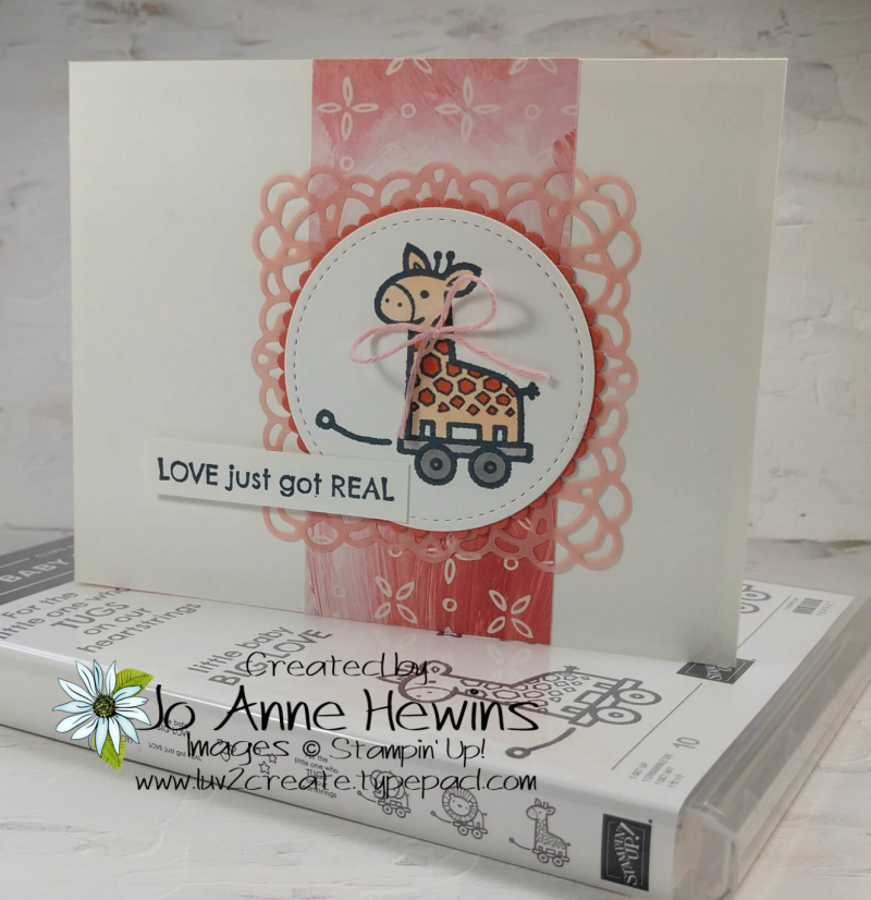 Baby Pull Toys Card by Jo Anne Hewins