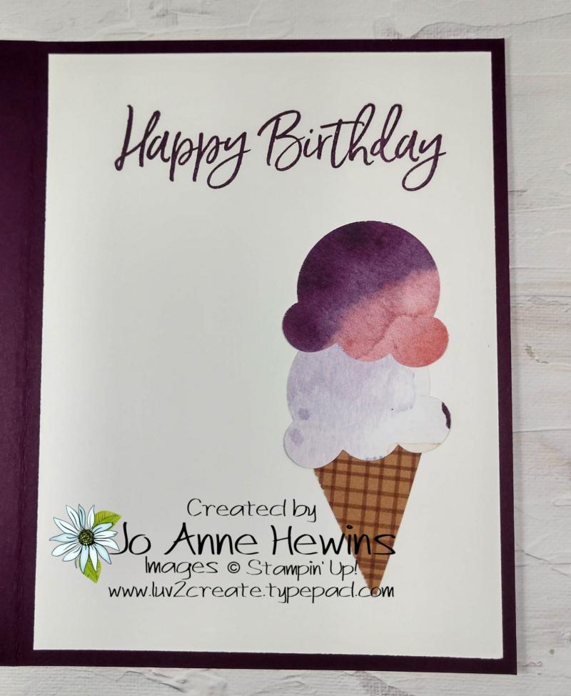 CCMC #655 Sweet Ice Cream Inside by Jo Anne Hewins