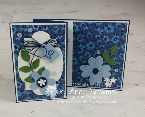 Well Suited In Bloom Fun Fold by Jo Anne Hewins