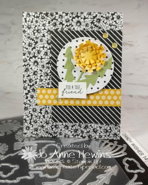 CCMC #657 True Love Dandy Wishes Card by Jo Anne Hewins