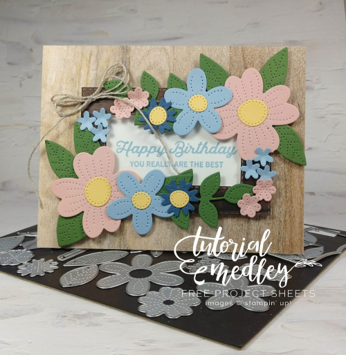 Tutorial Medley In Bloom for April with dies