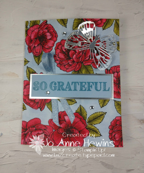 Color Fusers April True Love with Butterfly Card by Jo Anne Hewins