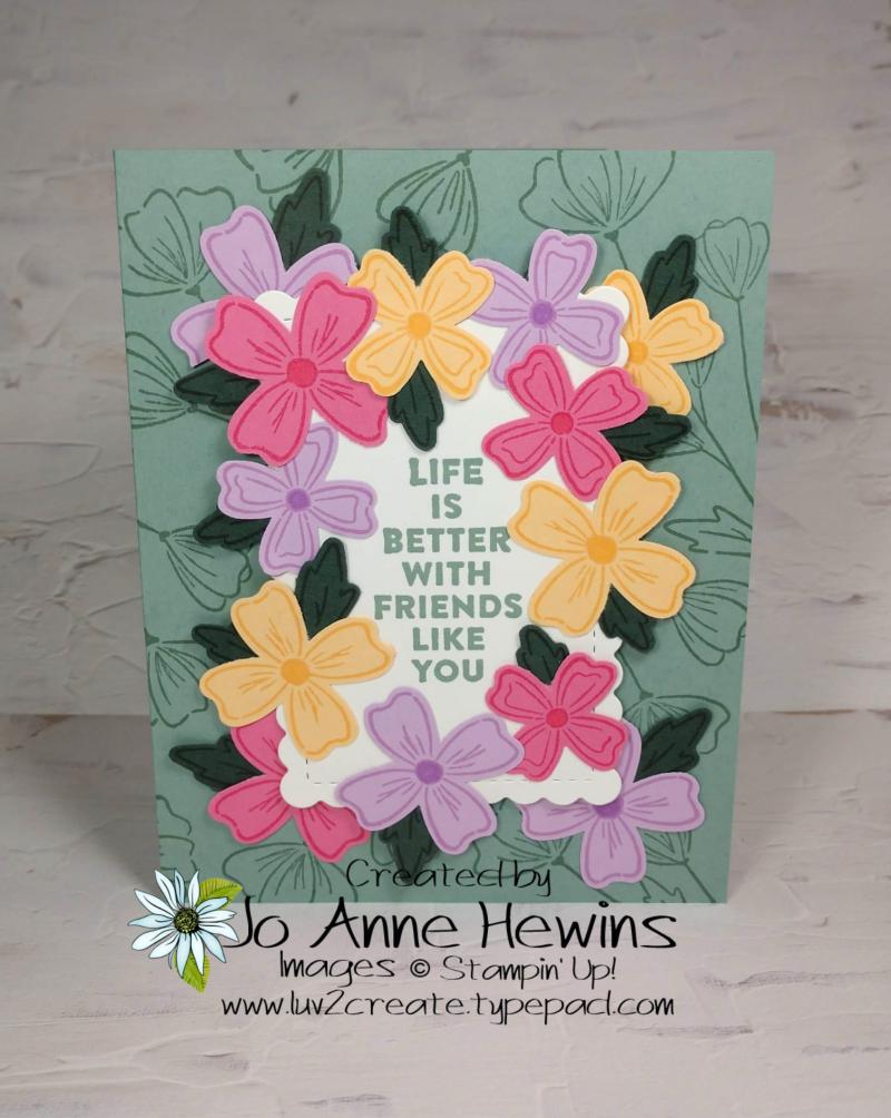 OSAT Flowers of Friendship Card by Jo Anne Hewins
