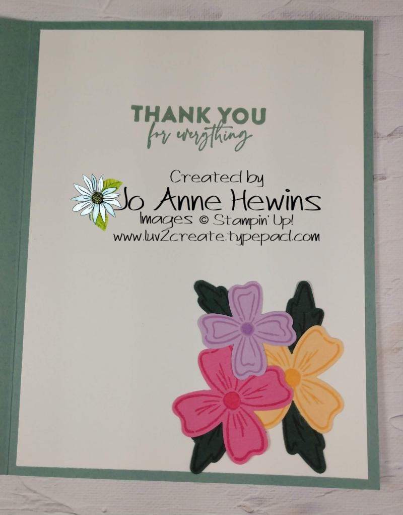 OSAT Flowers of Friendship Inside by Jo Anne Hewins