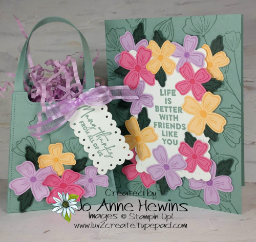 OSAT Flowers of Friendship Bag and Card by Jo Anne Hewins