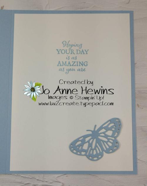 Brilliant Butterfly Inside by Jo Anne Hewins