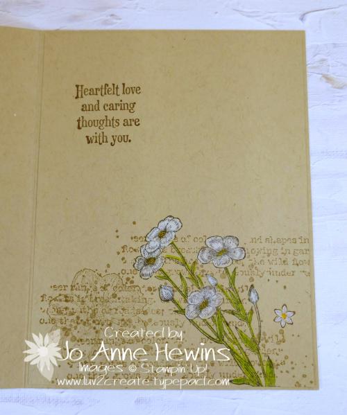 Quiet Meadow Single Layer Card Inside by Jo Anne Hewins