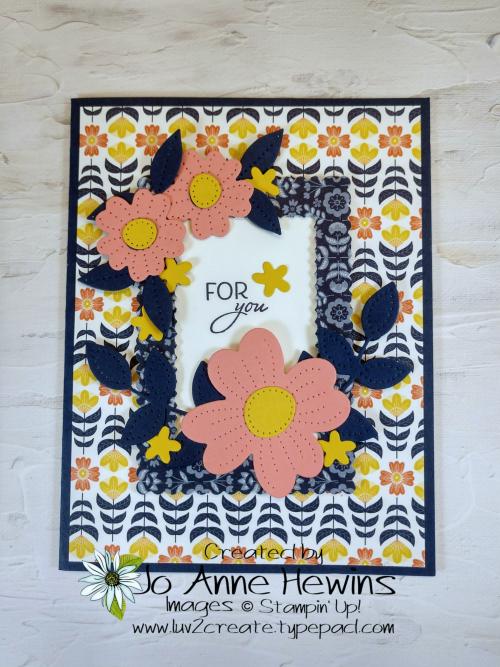 CCMC#664 Sweet Symmetry and Pierced Blooms by Jo Anne Hewins