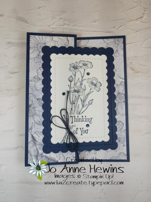 Quiet Meadow Fun Fold by Jo Anne Hewins