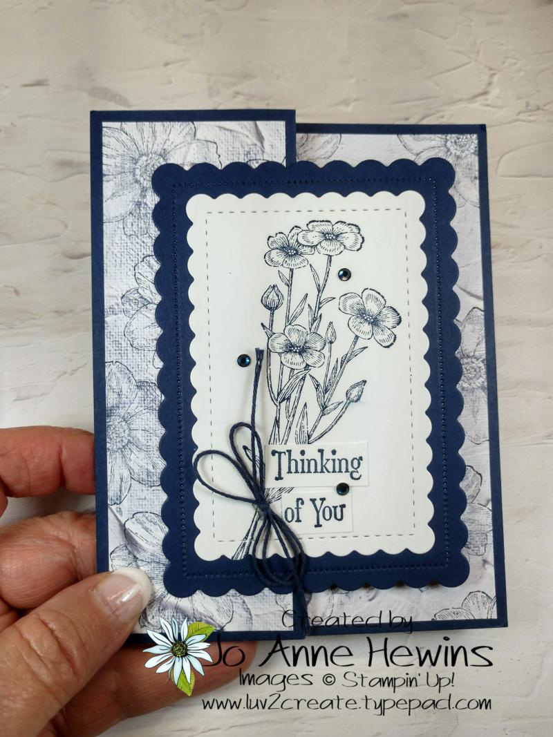 Quiet Meadow Fun Fold Card by Jo Anne Hewins