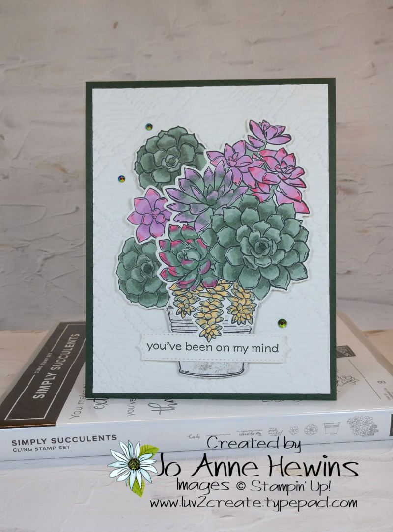 Color Fusers June 2021 Simply Succulents by Jo Anne Hewins