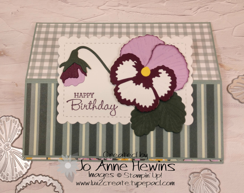 Pansy Patch Fun Fold Closed by Jo Anne Hewins