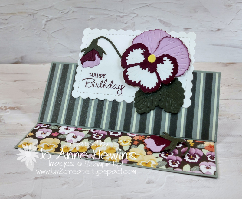 Pansy Patch Fun Fold Project by Jo Anne Hewins