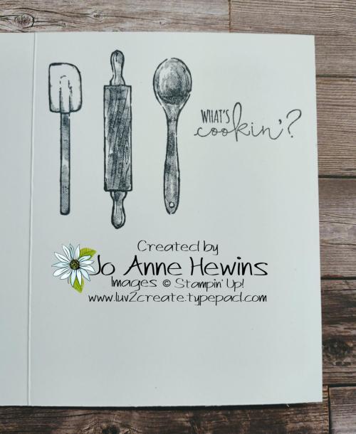 What's Cookin' Blackboard Inside by Jo Anne Hewins