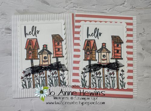 12 x 12 one sheet wonder Garden Birdhouses Cards by Jo Anne Hewins