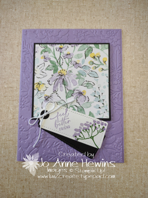 Facebook Live 7.14.2021 6 x 6 Card One by Jo Anne Hewins