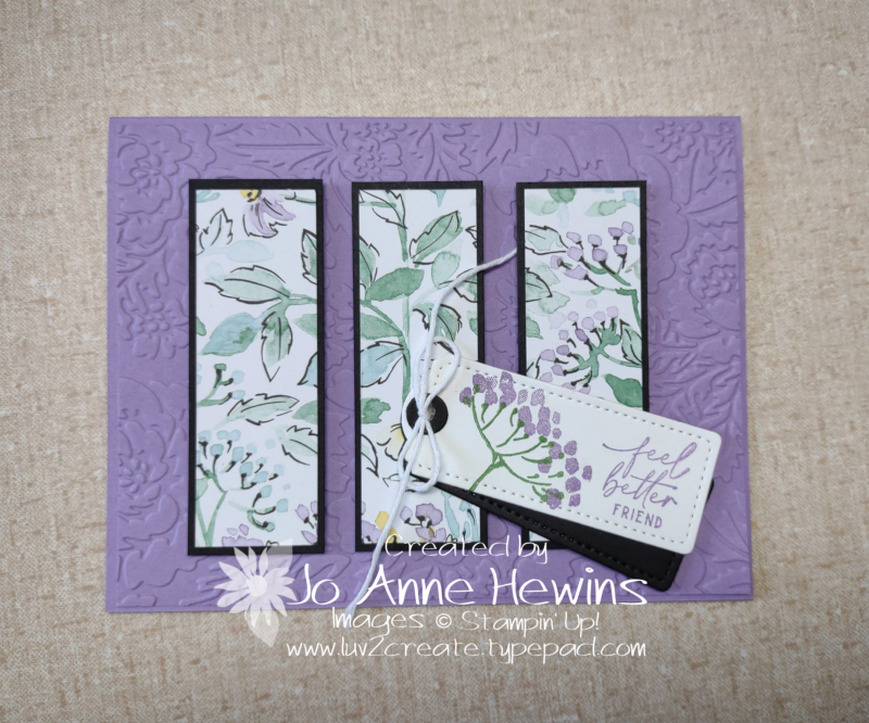 Facebook Live 7.14.2021 6 x 6 Card Three by Jo Anne Hewins
