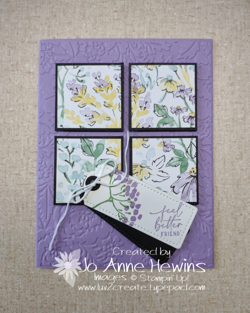 Facebook Live 7.14.2021 6 x 6 Card Four by Jo Anne Hewins