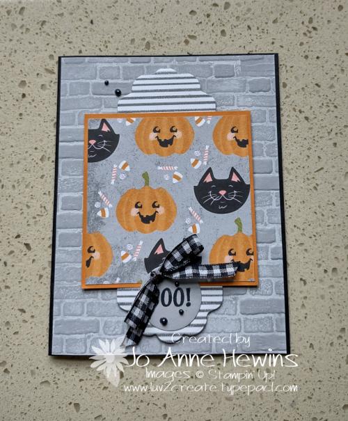 One Sheet Wonder Cute Halloween 6 x 6 Card 1 by Jo Anne Hewins